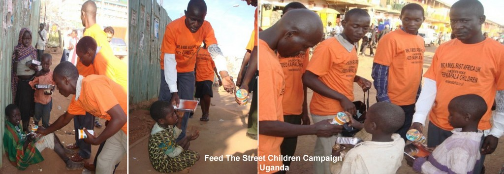 Feed The Street Children Campaign: Uganda funded by Pauline Long through Mr&Miss East Africa UK - Over 1400 children were fed